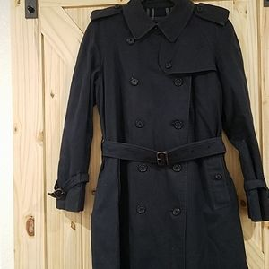 Vintage Burberrys England trench coat navy 16 long